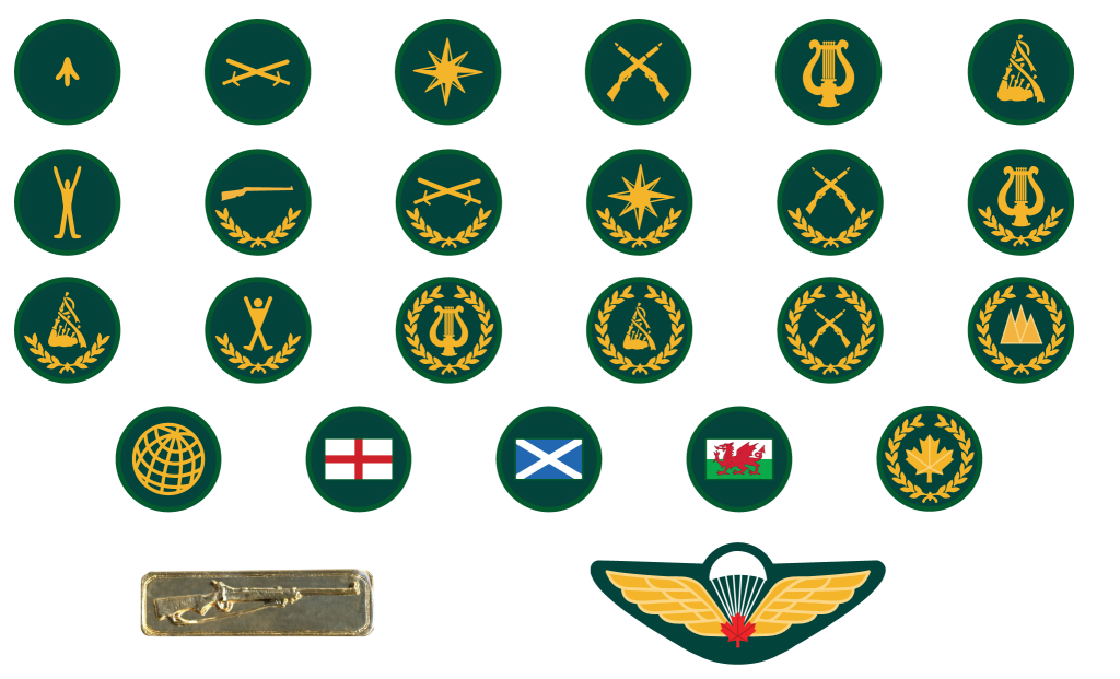 Cadet Summer Training Course Badges